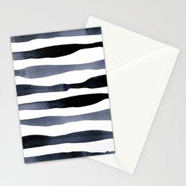 Payne's Grey Watercolour Stripes Stationery Cards