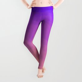 Pink and Purple Ombre - Swirly - Flipped Leggings