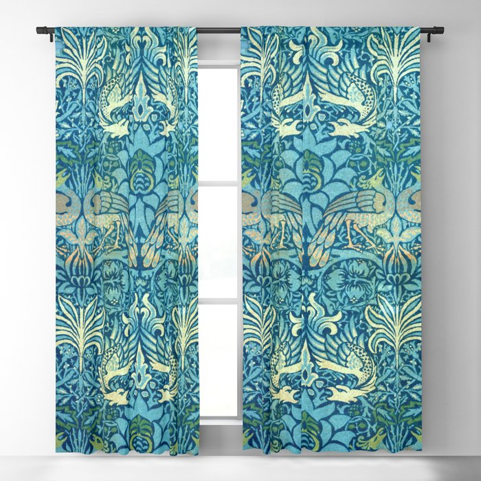 "William Morris ""Peacock and Dragons"" (2) Blackout Curtain"