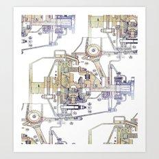 Mechanical Diagram Art Print