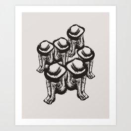 Phantom Lovers Art Print