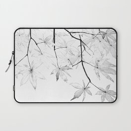 black and white maple leaves Laptop Sleeve