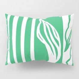 Long Leaf Stripe green Pillow Sham