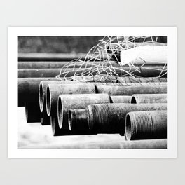 Pipes and Wire Art Print