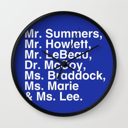 Tribute 4 - X-Men (Blue team) Wall Clock