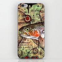 trout iPhone & iPod Skins featuring Trout Collage by MoosePaw