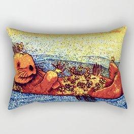 Terrarium Otter Rectangular Pillow