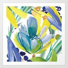 modern floral Art Print