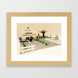 21/ Lido Lido by Amanda Baker Framed Art Print