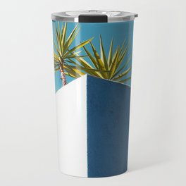 Cactus blue white Travel Mug