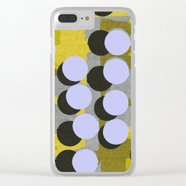 Circles on yellow background. Clear iPhone Case