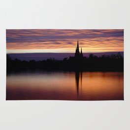 Sunset Reflection At The Lichfield Cathedral Rug