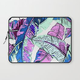 BANANA LEAF PALM PASTEL PINK AND BLUE Laptop Sleeve