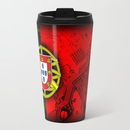 circuit board Portugal (Flag) Travel Mug