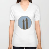 montreal V-neck T-shirts featuring Montreal Inspired by Vincent Arnaud