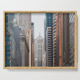 LaSalle Street Canyon Serving Tray