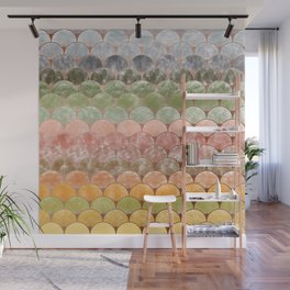 Watercolor art decó pattern Wall Mural