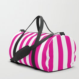 Vertical Pink Stripes Duffle Bag