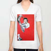 pride V-neck T-shirts featuring Pride by Mimi Rico