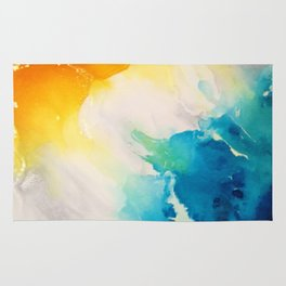 Costal Bright Summer Beach Abstract Rug