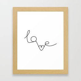 Woman & LoveMe Framed Art Print