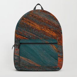 Red and blue turquoise mountain slope Backpack
