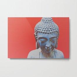 buddha on red Metal Print
