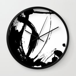 Brushstrokes No.15A by Kathy Morton Stanion Wall Clock