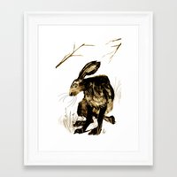 hare Framed Art Prints featuring Hare by Maddi Matthews