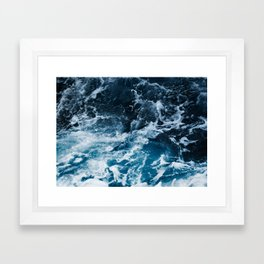 ocean, sea, blue print, blue art, photography, Framed Art Print
