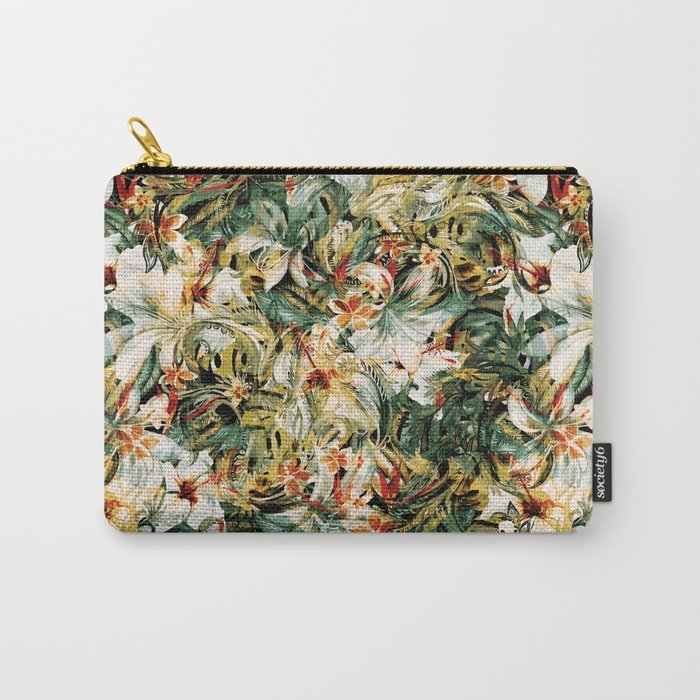 Seamless Floral Pattern Carry-All Pouch