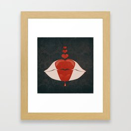 kiss me lips Framed Art Print