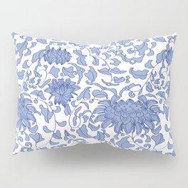 Chinoiserie Vines in Delft Blue + White Pillow Sham