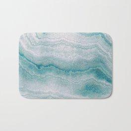 Sea green marble texture Bath Mat