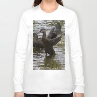 duck Long Sleeve T-shirts featuring Duck by Isabelle Savard-Filteau