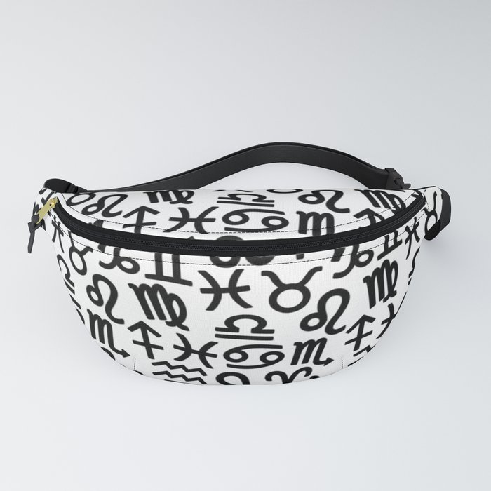 Zodiac signs background  Horoscope symbols  Astrology background Fanny Pack  by allexxandarx