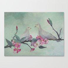 Love Doves Canvas Print