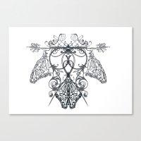 logo Canvas Prints featuring logo by Marilyne Lafrontiere Mla.designs