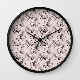 Romantic roses - Sepia Wall Clock