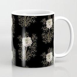 Mysterious Medieval Flower Pattern Coffee Mug