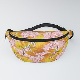 Pink Paisley Autumn Leaves Fanny Pack