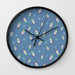 Rocket Ships Wall Clock