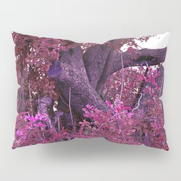 Pink red alien planet tree bright Pillow Sham