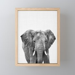 Elephant Print, Animal Print Framed Mini Art Print