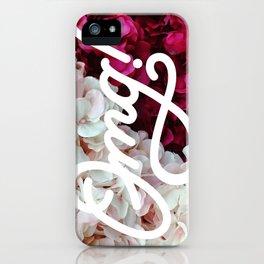 OMG! (Fleurs) iPhone Case