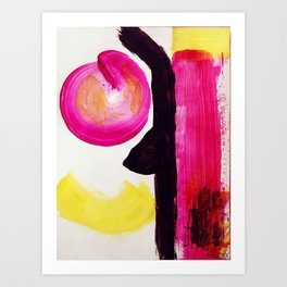 Neon Abstract Art Print