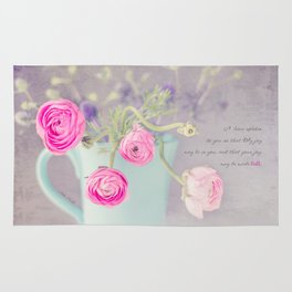 Ranunculus Cup Rug