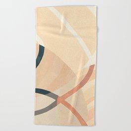 Converging Path Beach Towel
