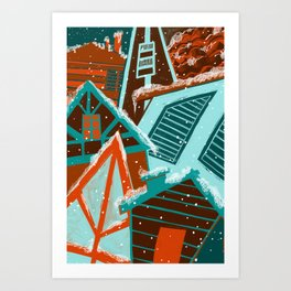 Holiday Houses  Art Print