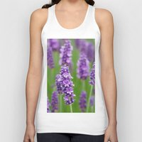 lavender Tank Tops featuring lavender by GISMANA
